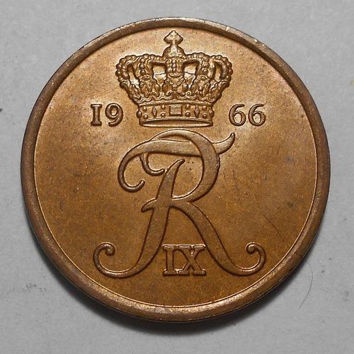 Dinamarca 5 Ore 1966  Frederik Ix - Km#848 - Hermosa Pátina