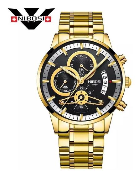 Relógios Masculinos Nibosi 2309 Blindado Anti-risco Cronografo Original Pronta Entrega Rapida