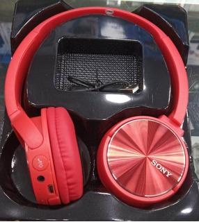 Audífonos Diadema Sony Mdr-xb400by Extra Bass Bluetooth Rojo