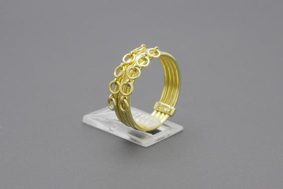  160  Anel Em Ouro Amarelo 18k