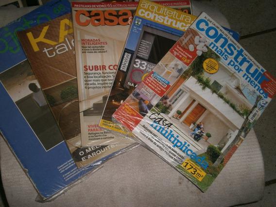 Arquiterua E Construçao Pacote C/ 5 Revistas Variadas