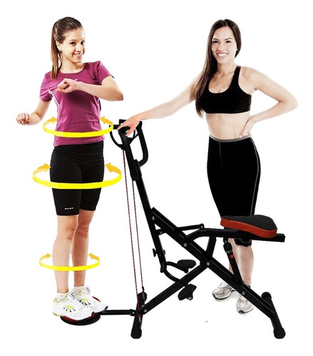 Maquina Fitness Total Horse Crunch Cilindro Gratis Parches