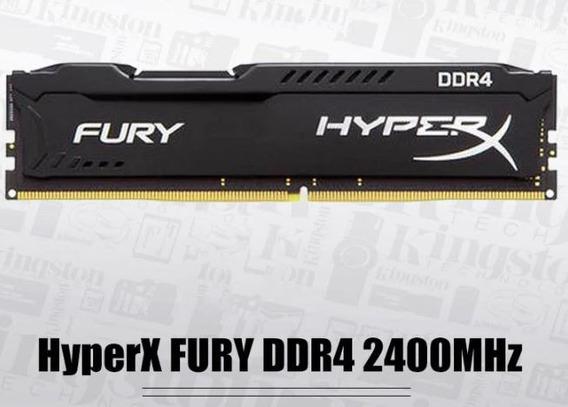 Memória Kingston Hyperx Fury 4gb 2400mhz Ddr4 Black