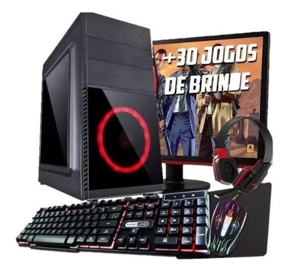 Computador Pc Game I5 Gt 1030 Ddr5 Ssd 120 Monitor Tec Mous