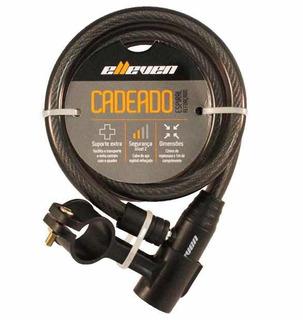 Cadeado Elleven Cabo Aço 1mt X 12mm P/ Bike Moto C/2 Chaves