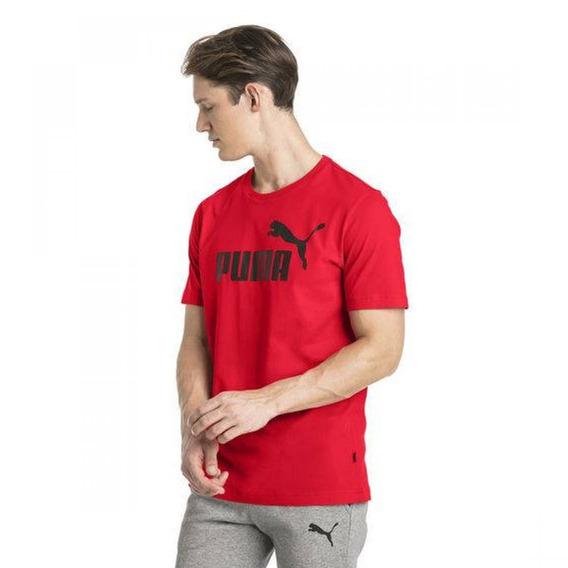 Puma Ess Logo Tee Rojo/negro