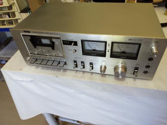 Tape Deck Polyvox Cp750d Cp-750d Funcionado Tampa Pintada
