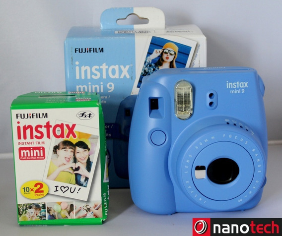 Câmera Fujifilm Instax Mini 9 Azul Escuro + 20 Filmes