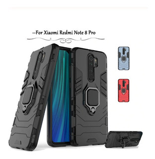 Capa Anti Impacto Armor Ring+ Película 9d Redmi Note 8 Pro
