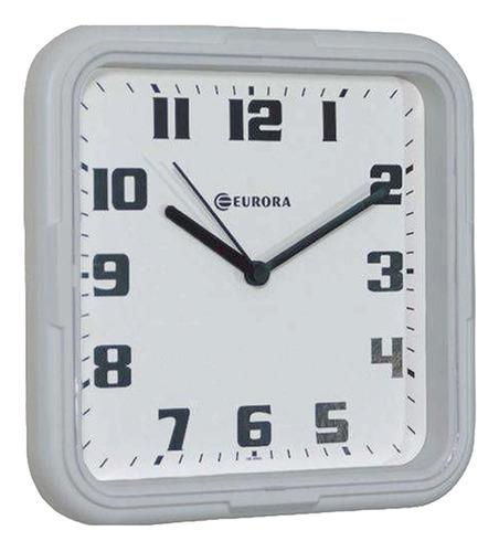 Relógio De Parede Eurora Cozinha Sala Quadrado Branco 6540