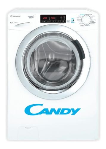 Lavarropas Candy 8 Kg Gvs128t 1200 Rpm Carga Frontal Blanco