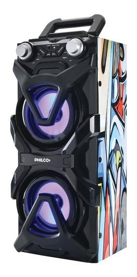 Philco Djp11 Parlante Bluetooth Activo Usb Luz Led Ritmicas