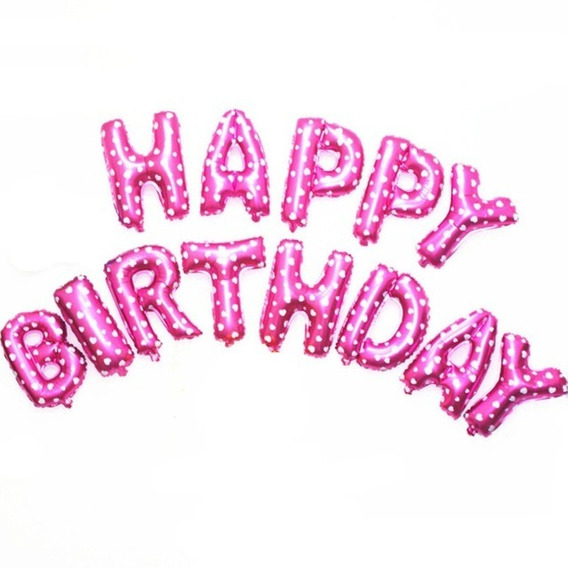 13pcs Globos De Papel De Aluminio Happy Birthday Letteloon J