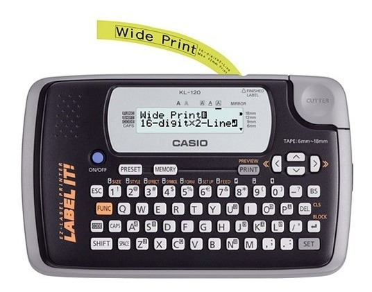 Rotuladora Casio Kl-120 Lcd 16 Digitos 12mm Tienda