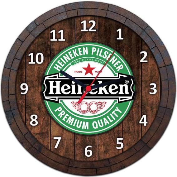 Relógio De Parede Quadro Tampa De Barril Cerveja Bebida W011
