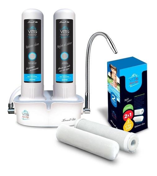 Purificador De Agua Smart Tek Vita + Kit Filtros Repuesto
