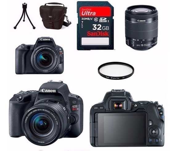 Câmera Canon Sl2+18-55+bolsa+tripé+32gb+filtro + Nota Fiscal