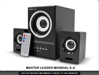 Juego De Parlantes Multimedia 2.1 Usb (bt/tf/usb/fm) X 10 U