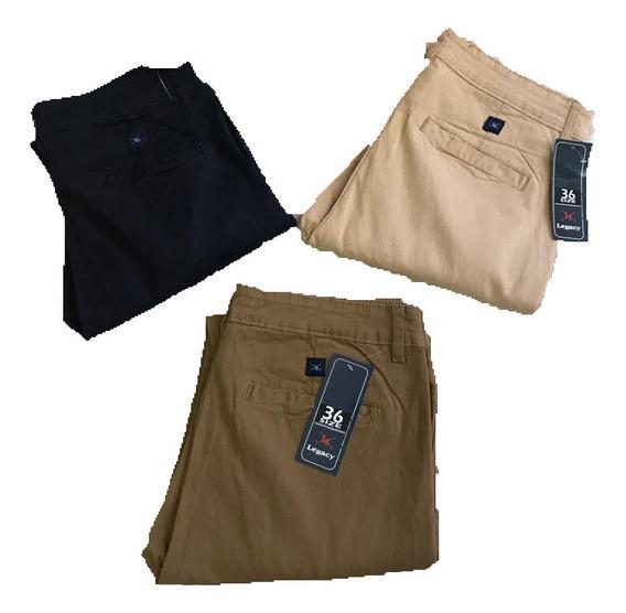 Pantalón Gabardina Legacy Chupin Elastizado Premium Oferta!!