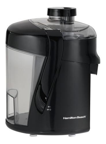 Imagen 1 de 3 de Extractor de jugos Hamilton Beach Health Smart 67801 negro 120V con accesorios