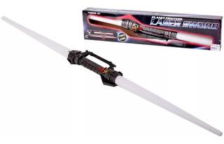 Espada Laser Sword Doble Luces Y Sonidos Extensible 115 Cm