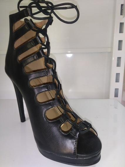 Zapatos De Fiesta Negro Con Cordón!!! Envío Gratis!!