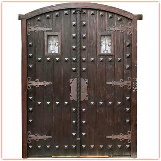 Puertas De Madera Y Hierro Puertas Es Apta Para Exterior Abatible