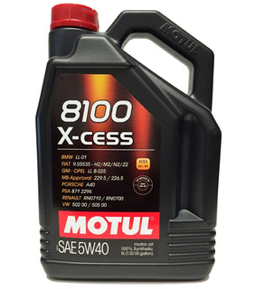 Aceite Motul 8100 Xcess 5w40 X5l - 100% Sintético- Original + ( Envío Incluido)