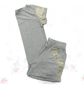 Conjunto Shorts + Blusa Com Brilho Roupas Femininas Plus Siz