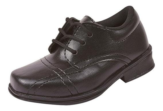 Sapato Social Juvenil Infantil Cadar Fosco Masculino 28/36