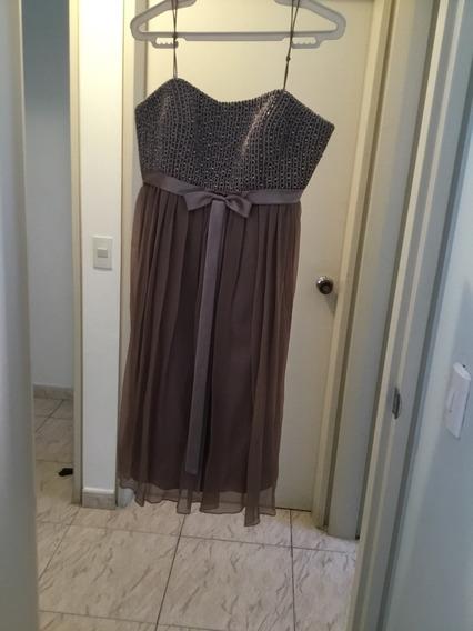 Vestido De Cóctel Corto Con Detalles De Piedreria T-l