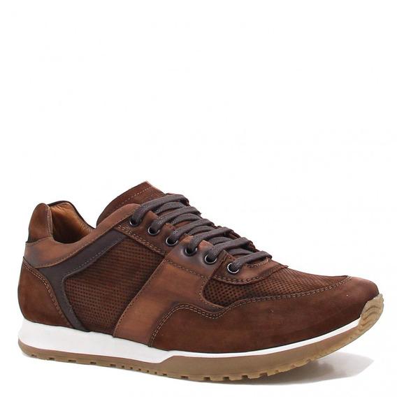 Sapatênis Zariff Shoes Casual Nobuck Marrom Br502
