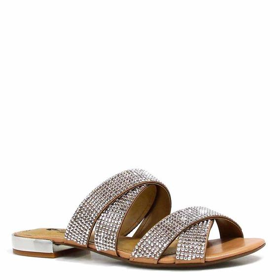 Rasteira Zariff Shoes Bico Aberto Pedras 45026