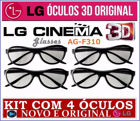4 Óculos Cinema 3d LG Ag-f310 Cinema Original