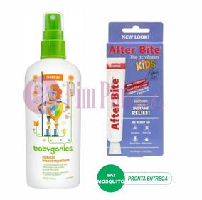 Pomada After Bite Kids + Repelente Spray Babyganics 177ml