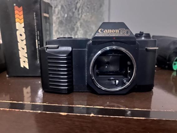 Câmera Canon T50 + Bolsa De Couro Da Ambico