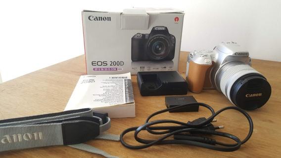 Canon Sl2 200d Cámara Edición Especial Silver Estado: 10/ 10