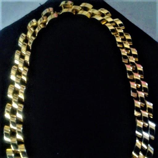 Collar Elegante, Chapa De Oro. Pesa 112 G. Pieza Unica!