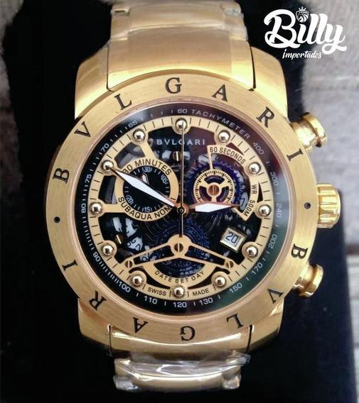 Relógio Rp021 Bv Preto Venon Dourado 18k + Caixa