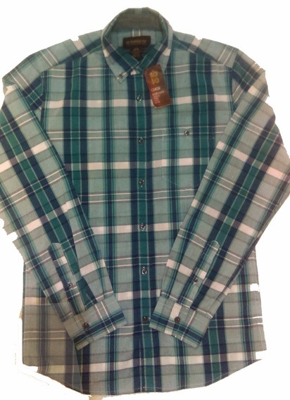Camisa Hombre No Boundaries, Azul A Cuadros, Nueva, Original