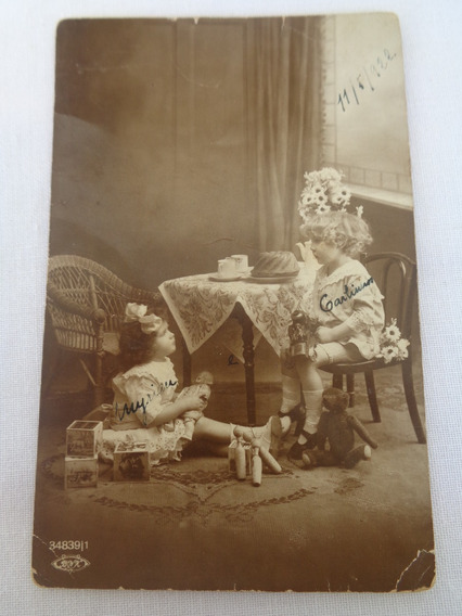 Cartão Postal Temático Brinquedo Antigo Boneca 07#
