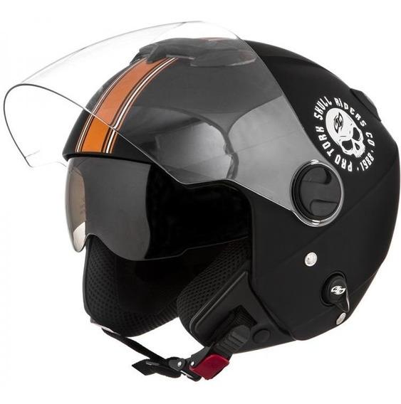 Capacete Aberto Custom New Atomic Skull Riders C/ Óculos