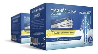 Magnésio P.a. Lactato 30 Sachês Sb Limão Siciliano