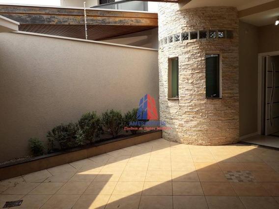 Casa Com 4 Dormitórios À Venda, 190 M² Por R$ 700.000 - Residencial Jacira - Americana/sp - Ca1142