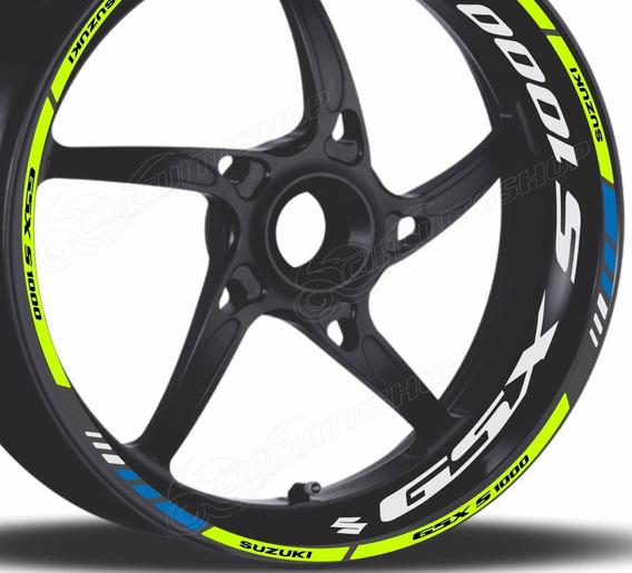 Friso + Adesivo Refletivo Roda Moto Suzuki Gsx S 1000 Gsxs