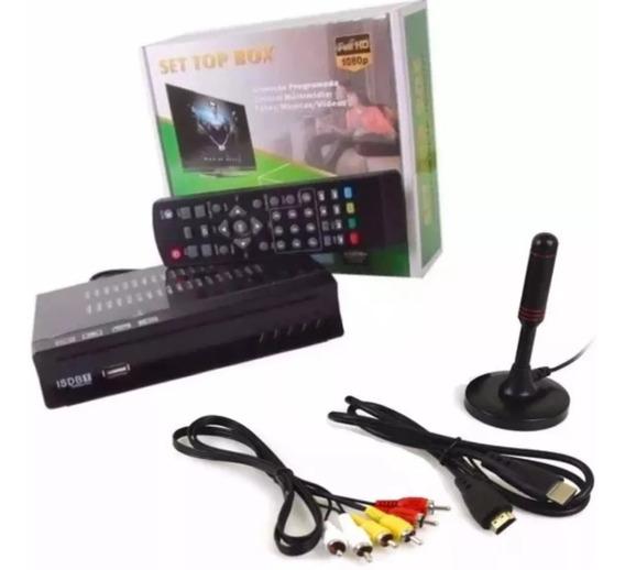 Kit Conversor Digital Tv+ Antena Digital Interna Cabo 4.3mts