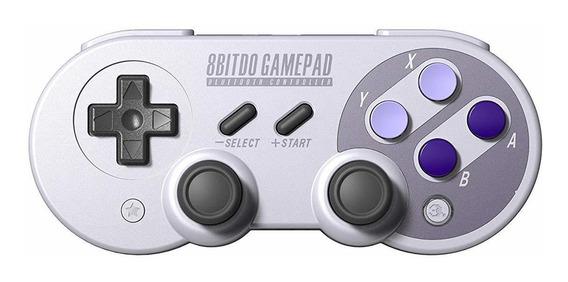 Controle joystick 8Bitdo SN30 Pro cinza