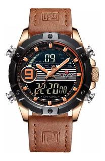 Reloj Hombre Naviforce Nf9146 Calidad Cuero Multifuncion