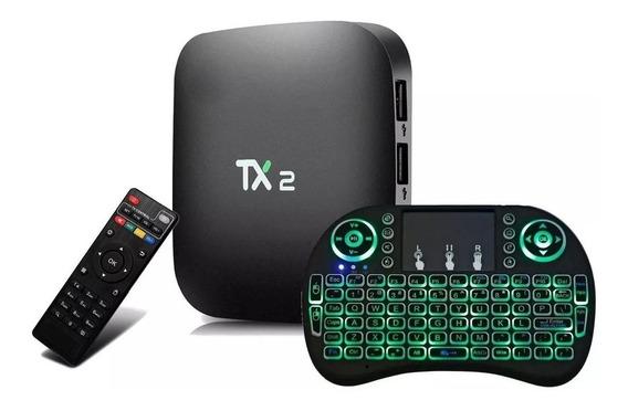 Conversor Tv Box Tx2 - Streaming Media Player + Teclado Led