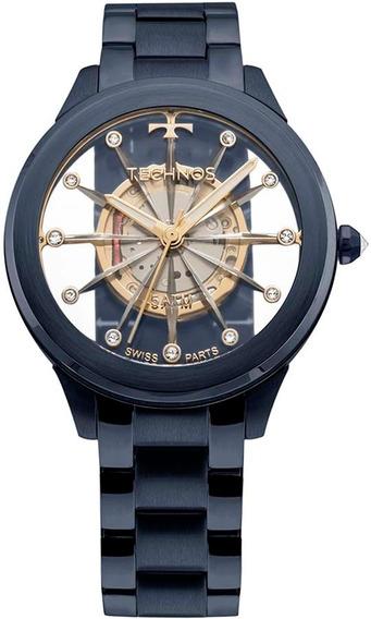 Relógio Technos Feminino Essence Suiço F03101ad/4w Azul
